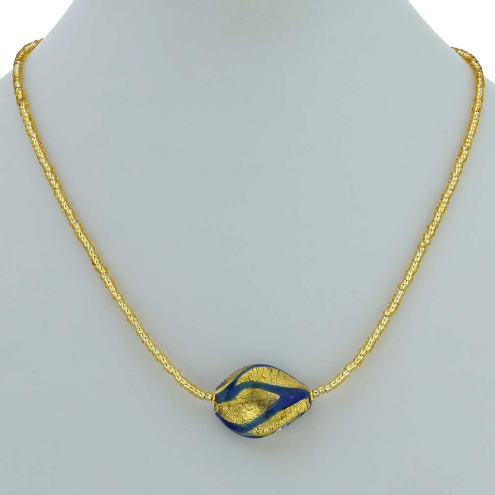 Royal Blue Spiral Necklace