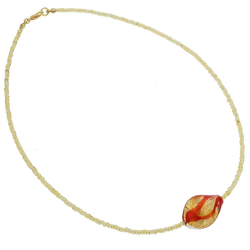 Royal Red Spiral Necklace