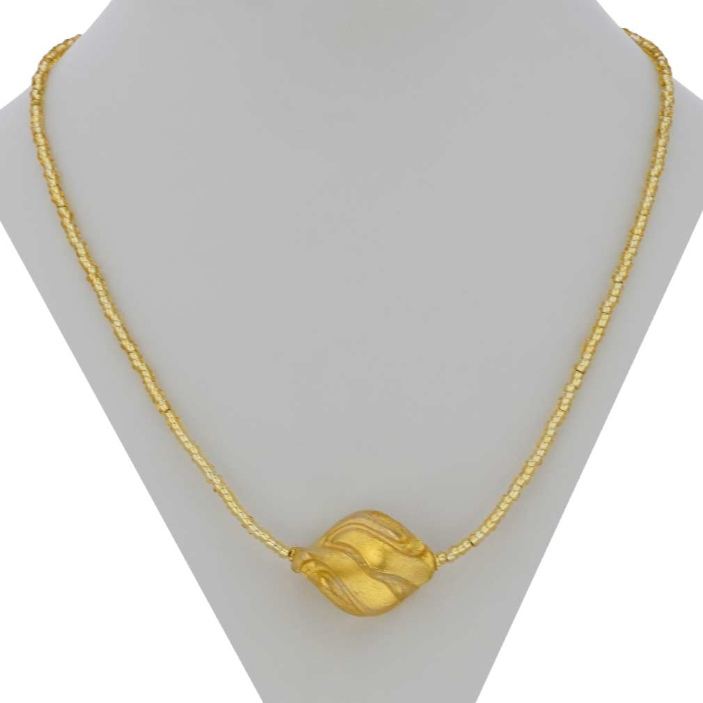 Royal Gold Spiral Necklace