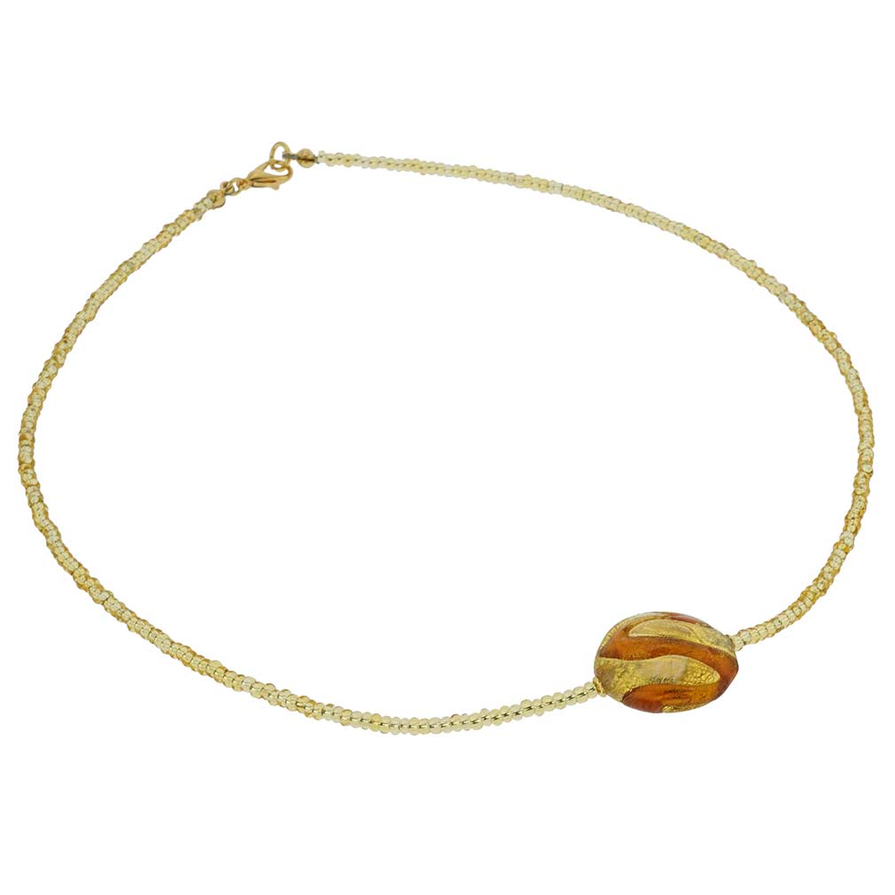 Royal Cognac Circle necklace