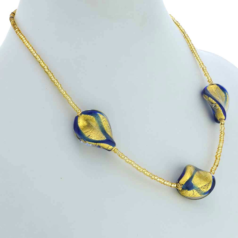 Royal Blue Spirals Necklace