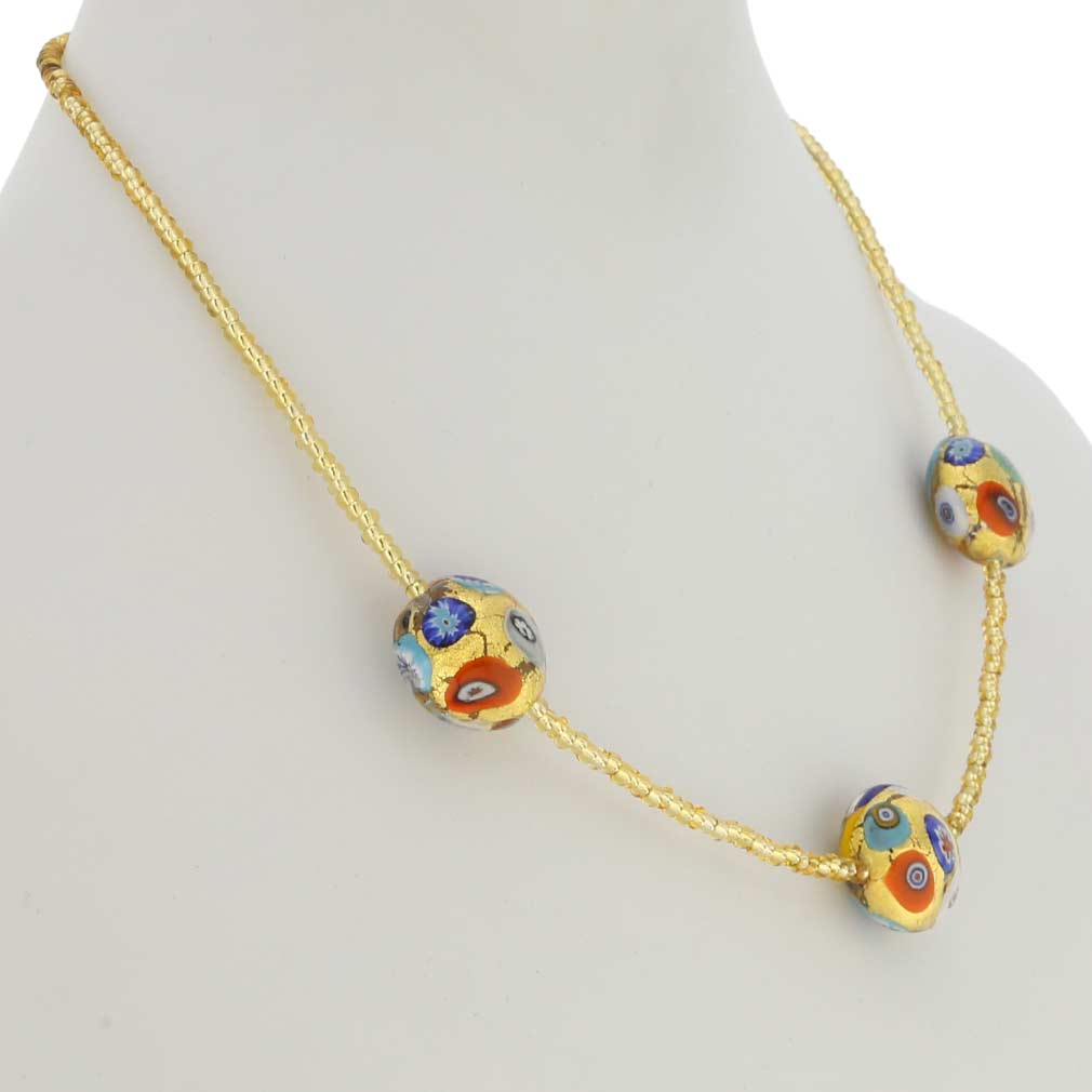 Royal Klimt Disks Necklace