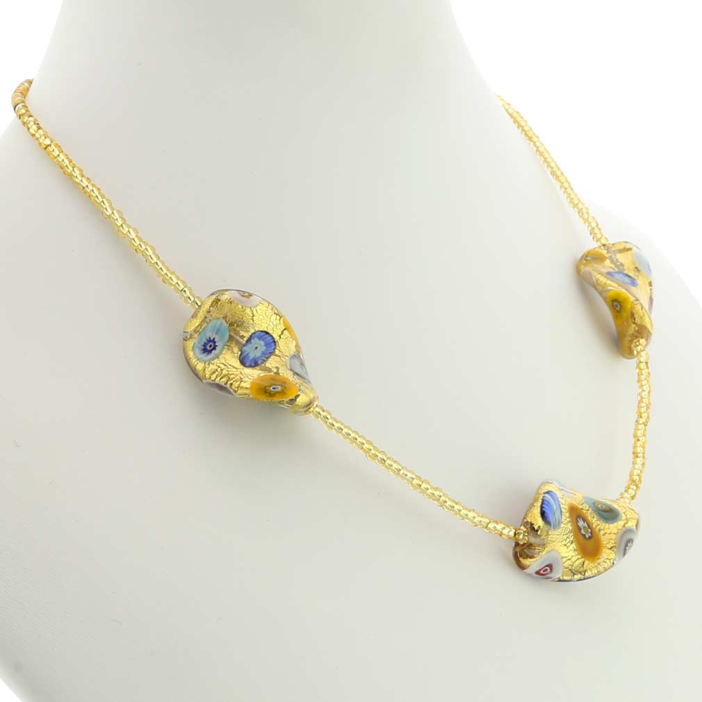 Royal Klimt Spirals Necklace