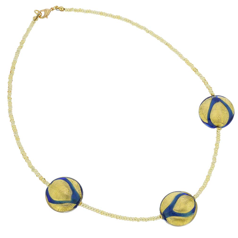 Royal Blue Circles necklace