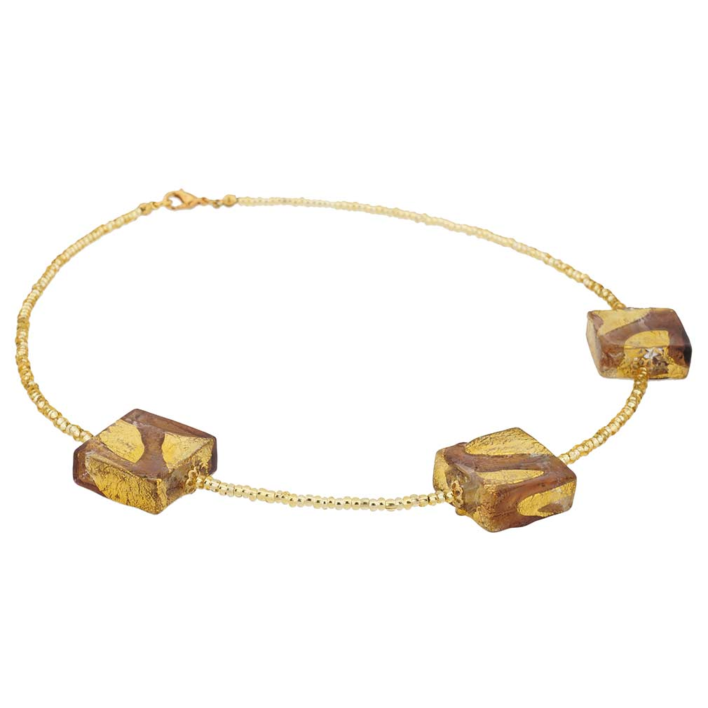 Royal Purple Squares Necklace