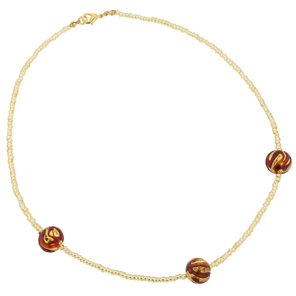 Royal Red Balls necklace