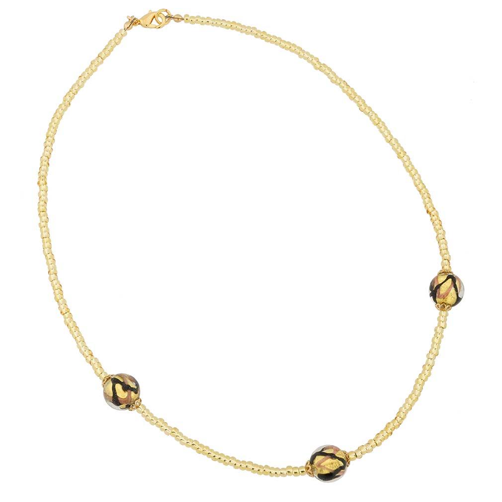 Royal Black Balls Necklace