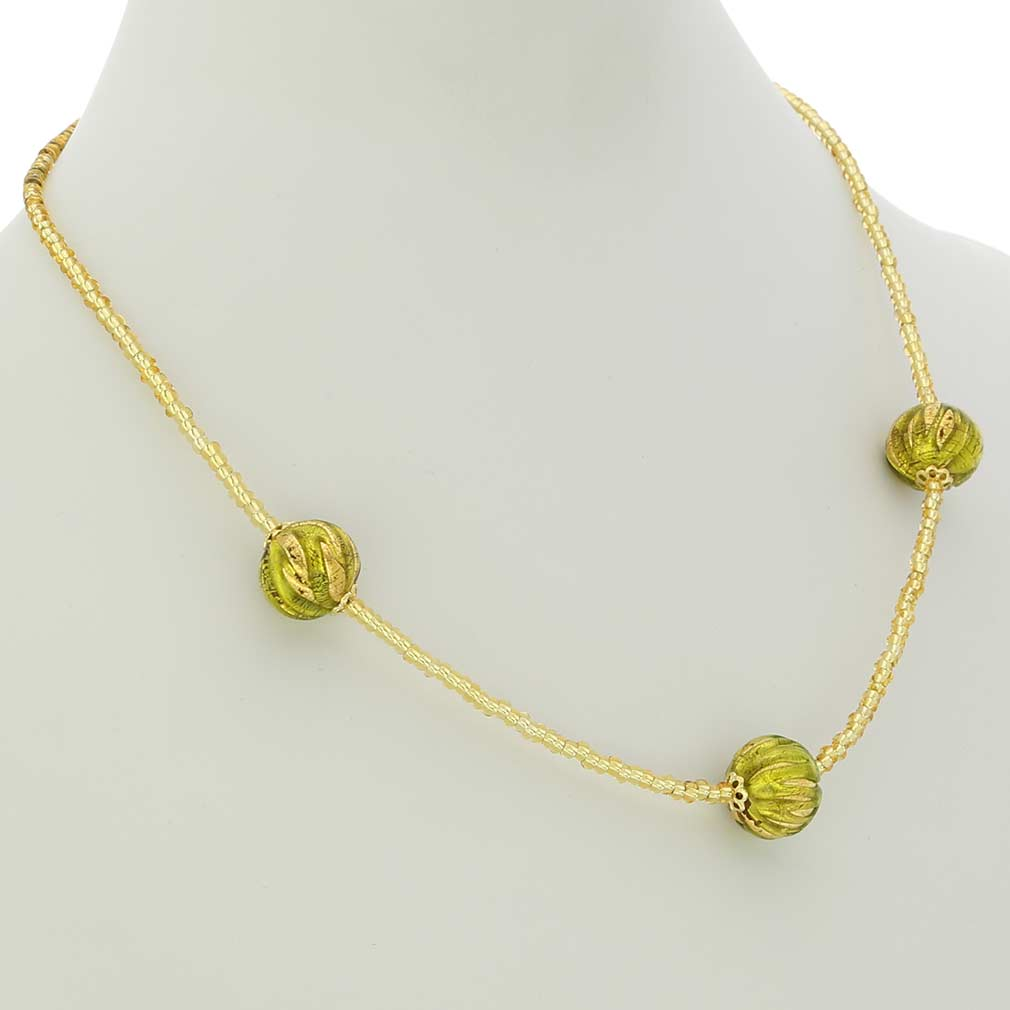 Royal Herb Green Balls Necklace