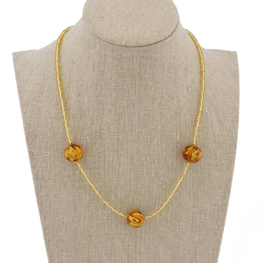 Royal Cognac Balls Necklace