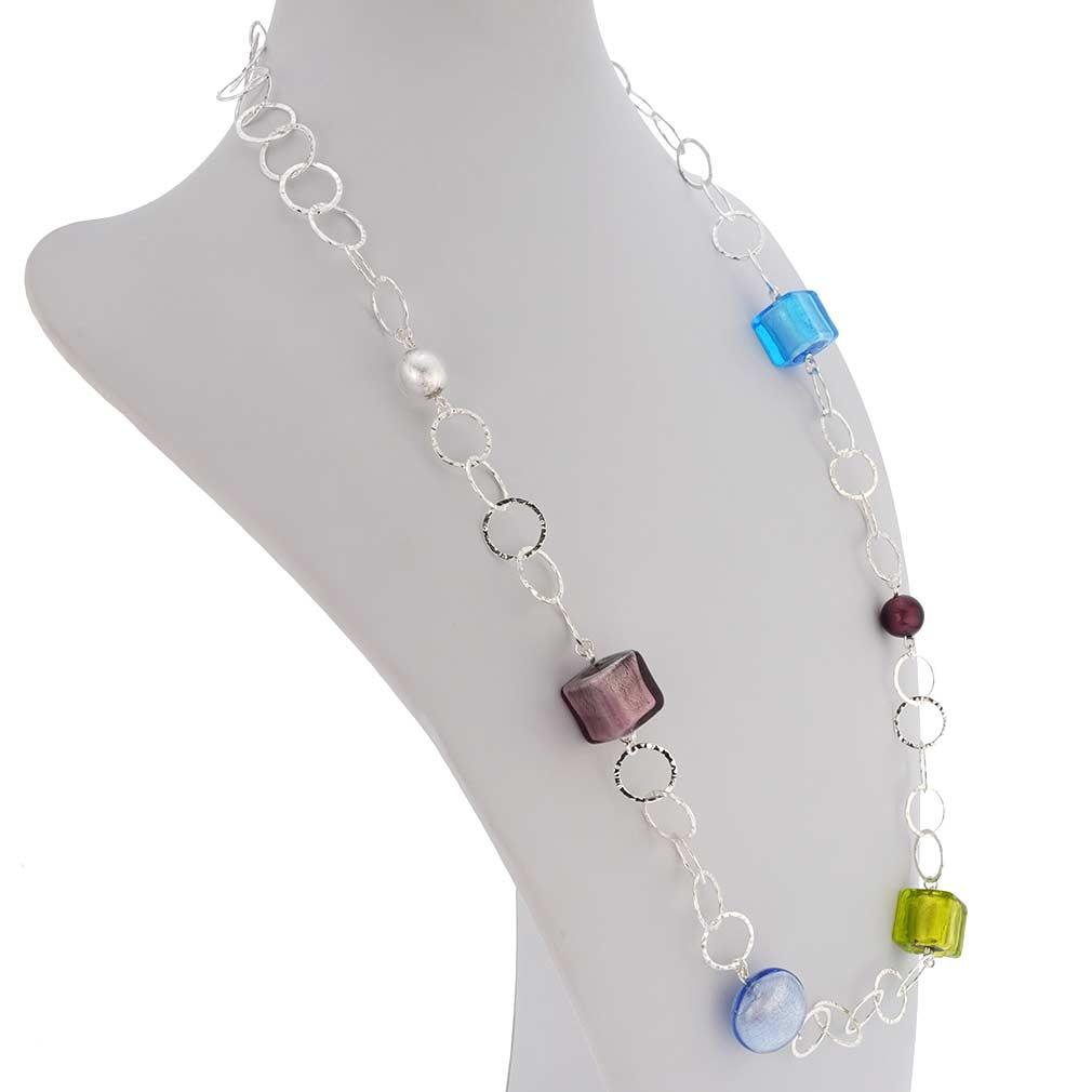 Silver Fantasy Murano Necklace