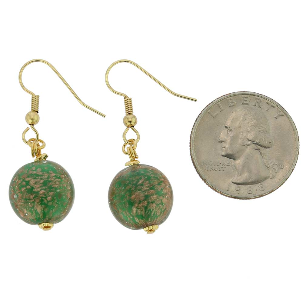 Starlight Disk Earrings - Emerald
