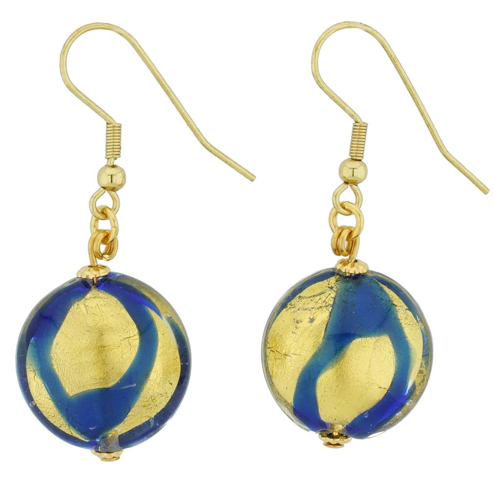 Royal Blue Circle Earrings
