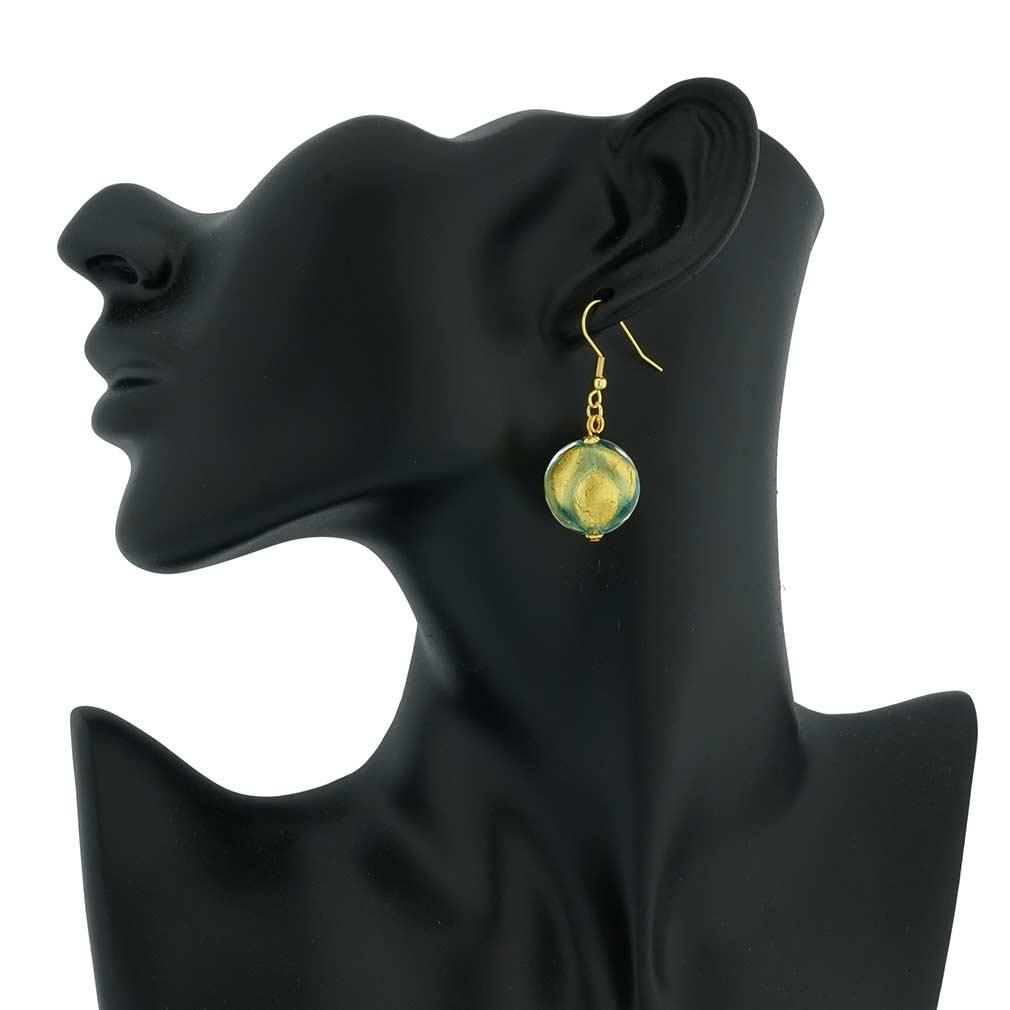 Royal Aquamarine Circles earrings