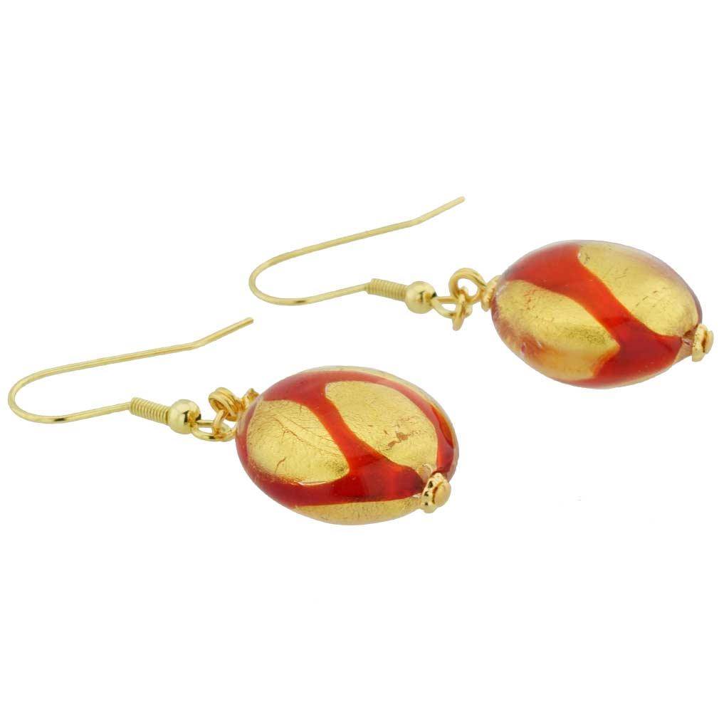 Royal Red Circle Earrings