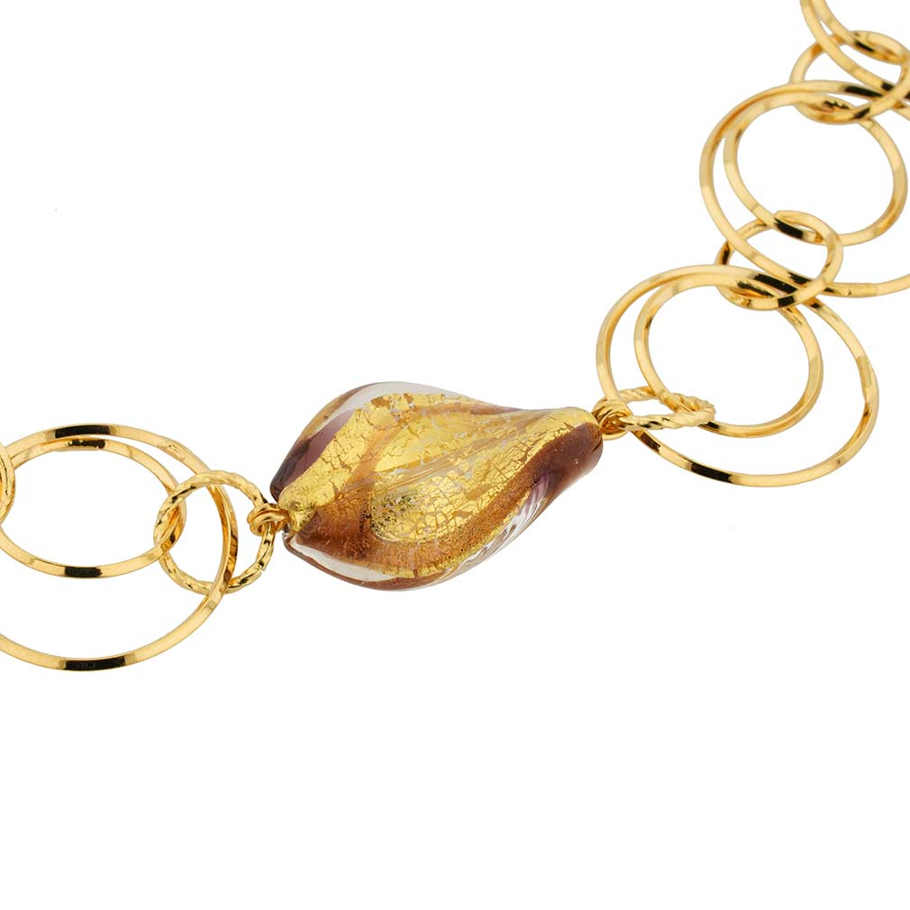Royal Cascade Murano Necklace