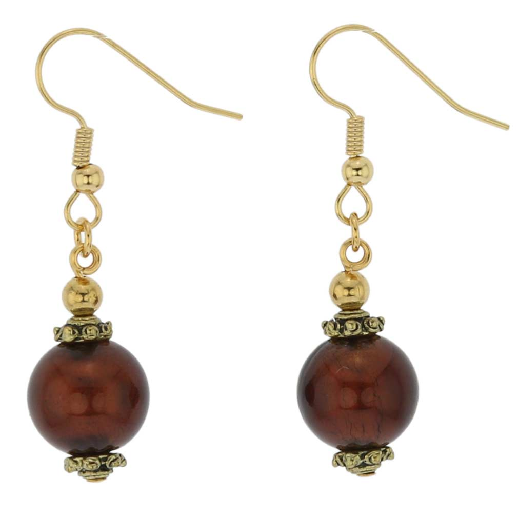 Antico Tesoro Balls Earrings - Dark Mocha