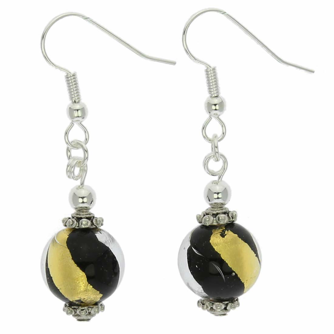 Gold and Silver Ball Earrings