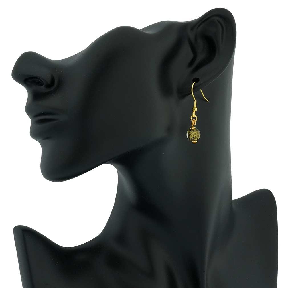 Golden Glow Earrings - Black