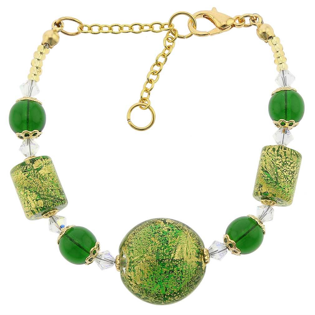 Ca D\'Oro Murano Bracelet - Emerald Green