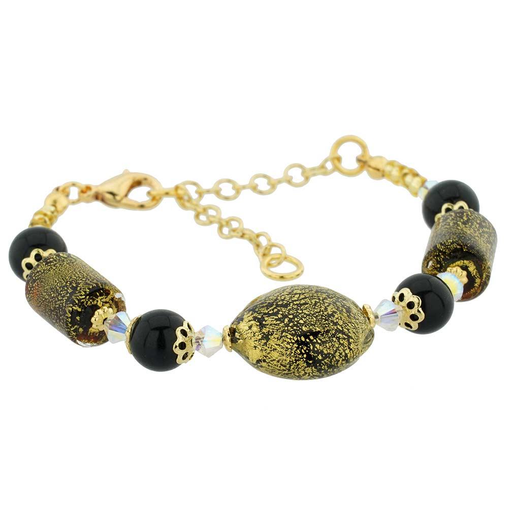 Ca D\'Oro Murano Bracelet - Black