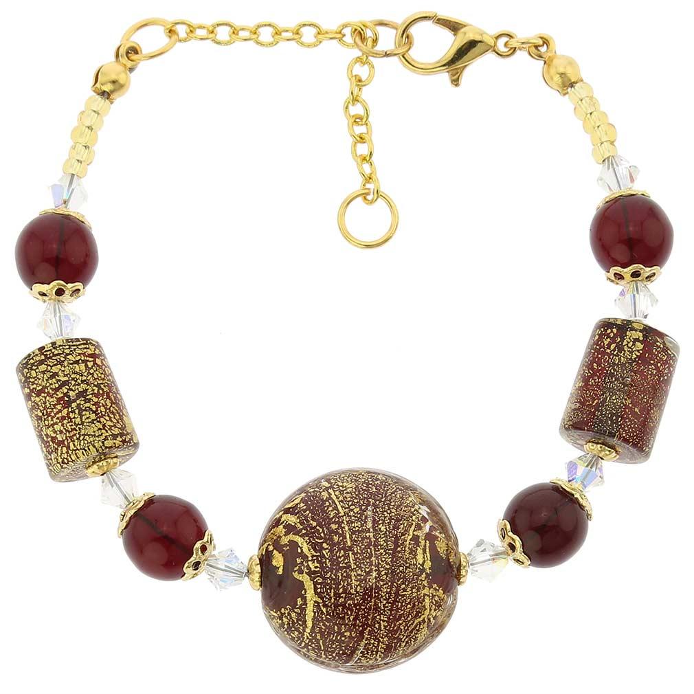 Ca D\'Oro Murano Bracelet - Ruby Red