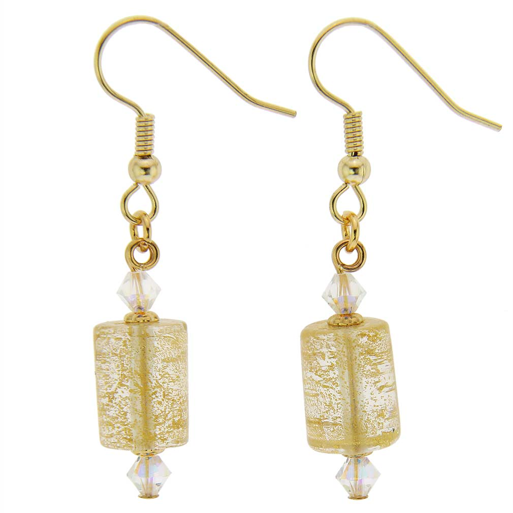 Ca D'Oro Murano Barrel Earrings - Yellow Gold