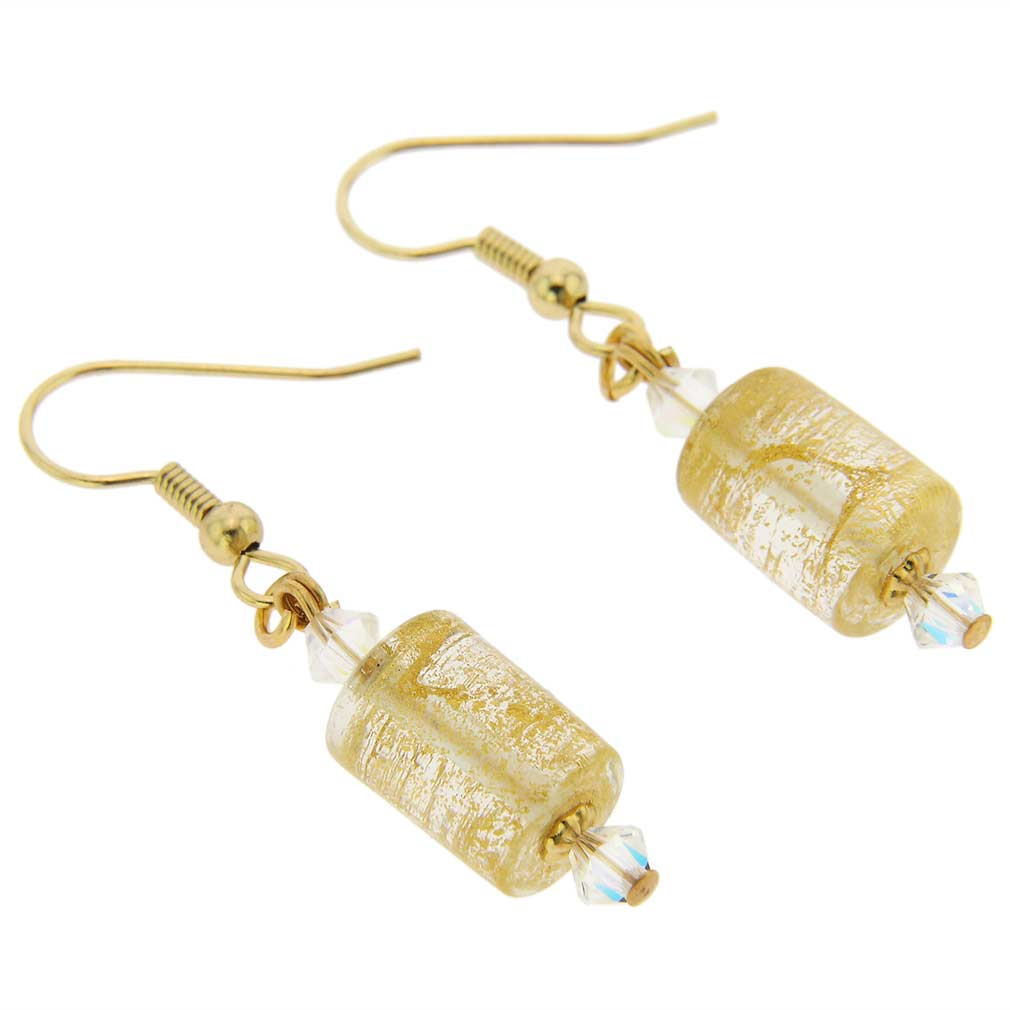 Ca D\'Oro Murano Barrel Earrings - Yellow Gold