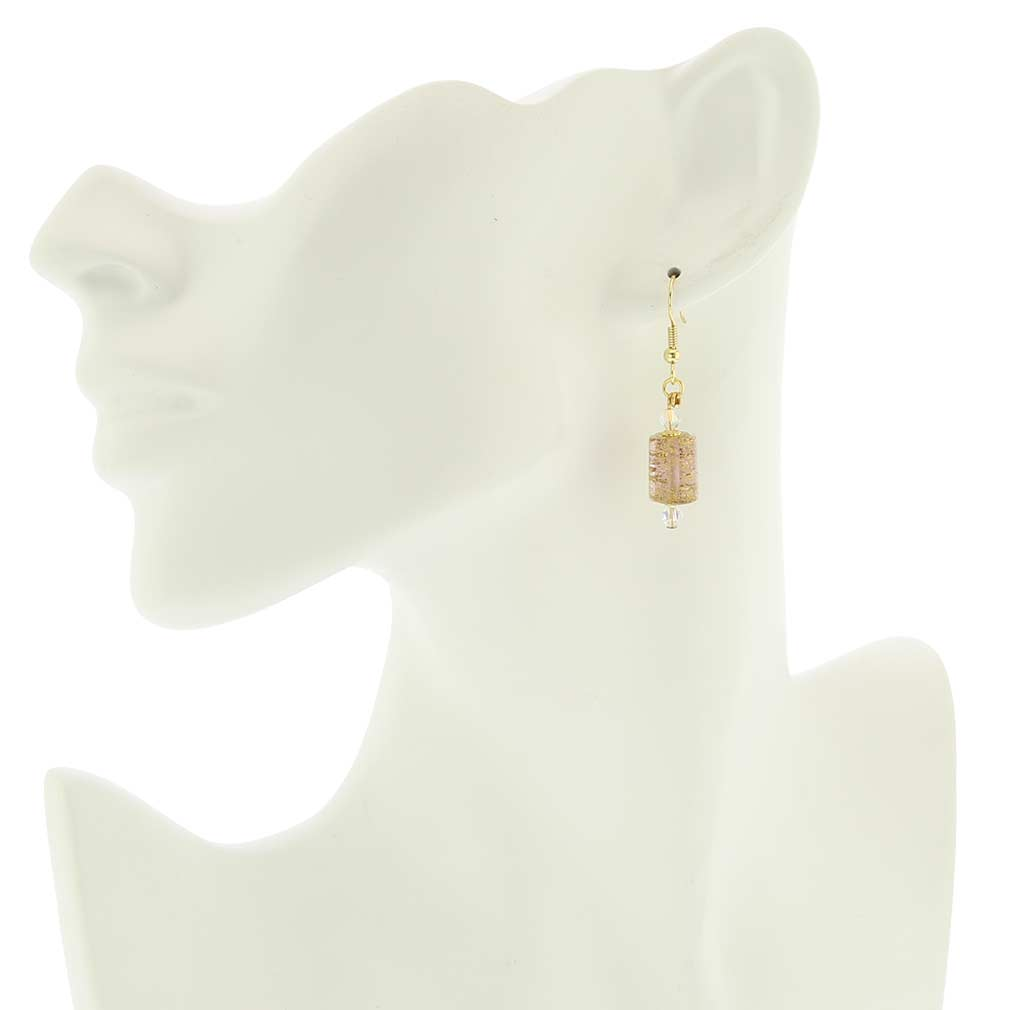 Ca D\'Oro Murano Barrel Earrings - Purple