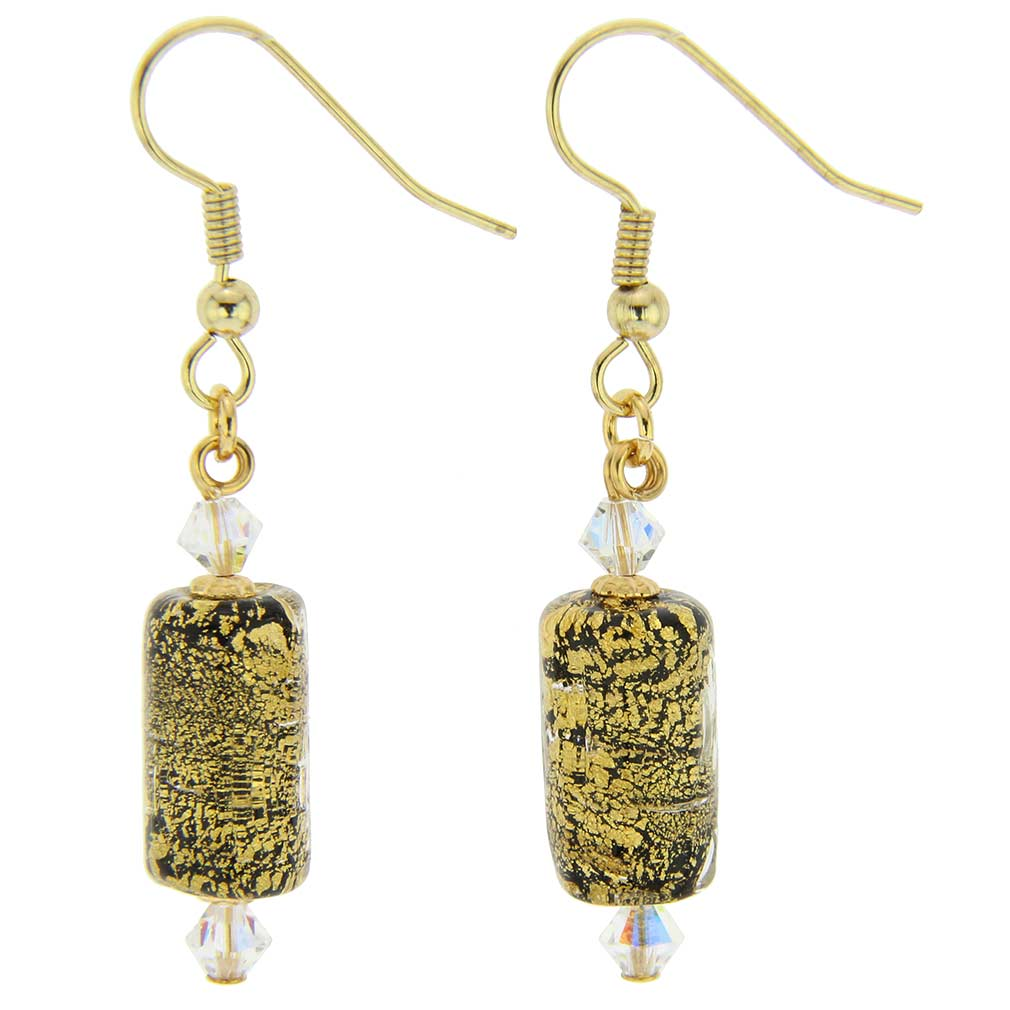 Ca D\'Oro Murano Barrel Earrings - Black