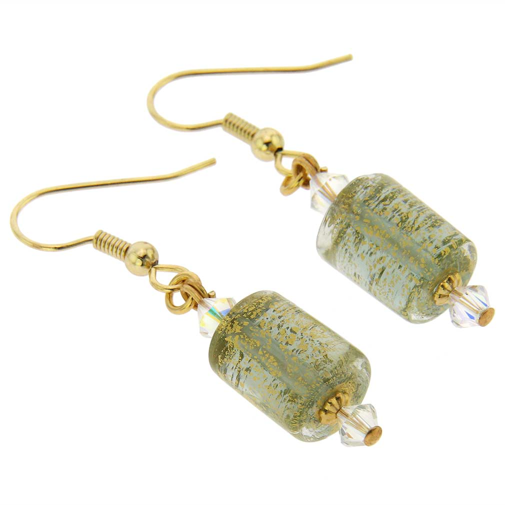 Ca D\'Oro Murano Barrel Earrings - Cloudy Sky