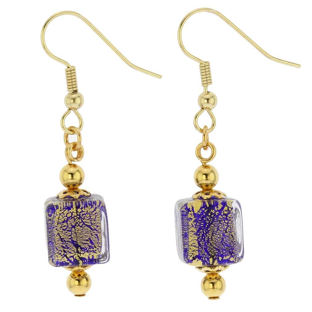 Antico Tesoro Cubes Earrings - Cobalt Blue
