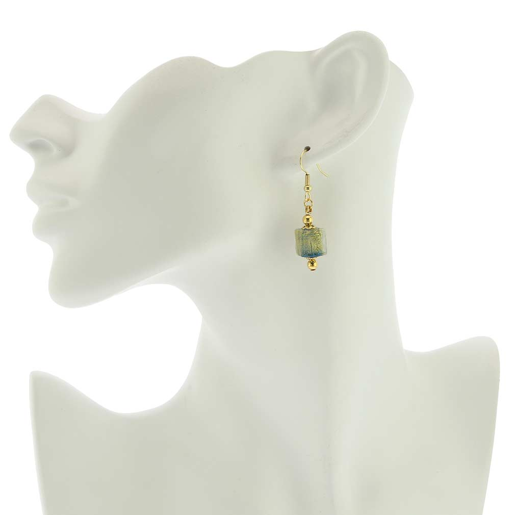 Antico Tesoro Cubes Earrings - Aqua