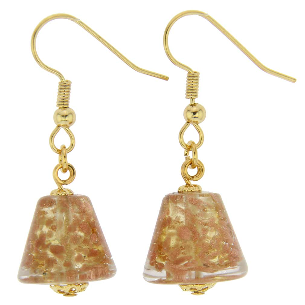 Starlight Cones Earrings - Transparent Golden Brown
