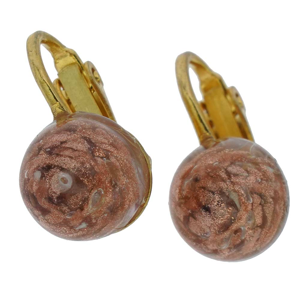 Murano Sparkles Cabochon Clip Earrings - Light Purple