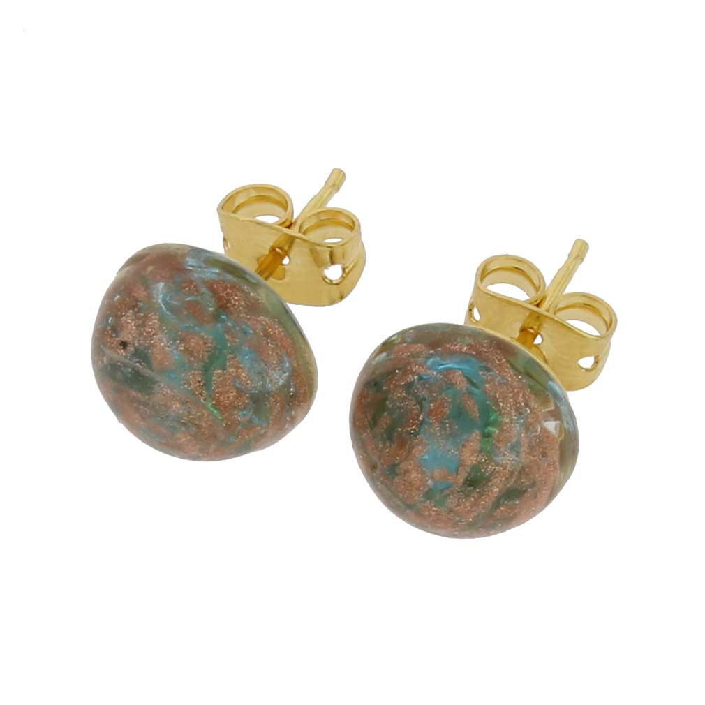 Starlight Small Stud Earrings - Aqua