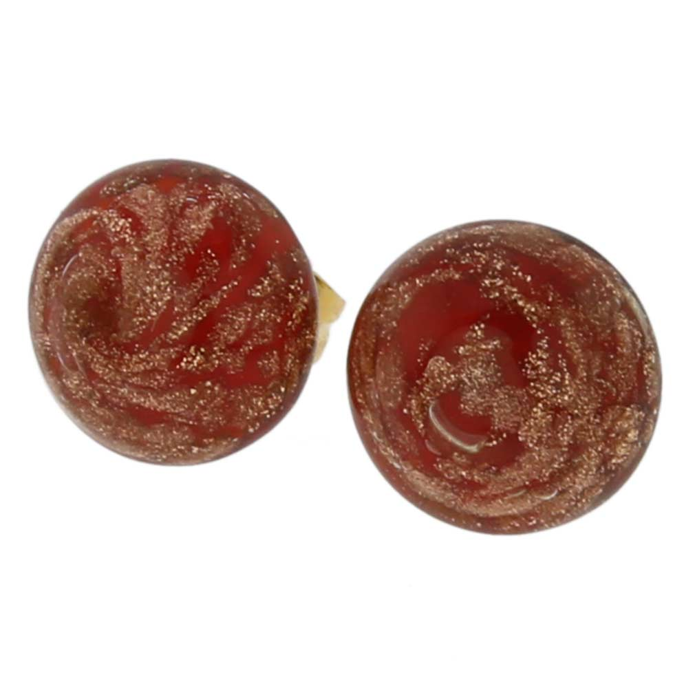 Starlight Small Stud Earrings - Red