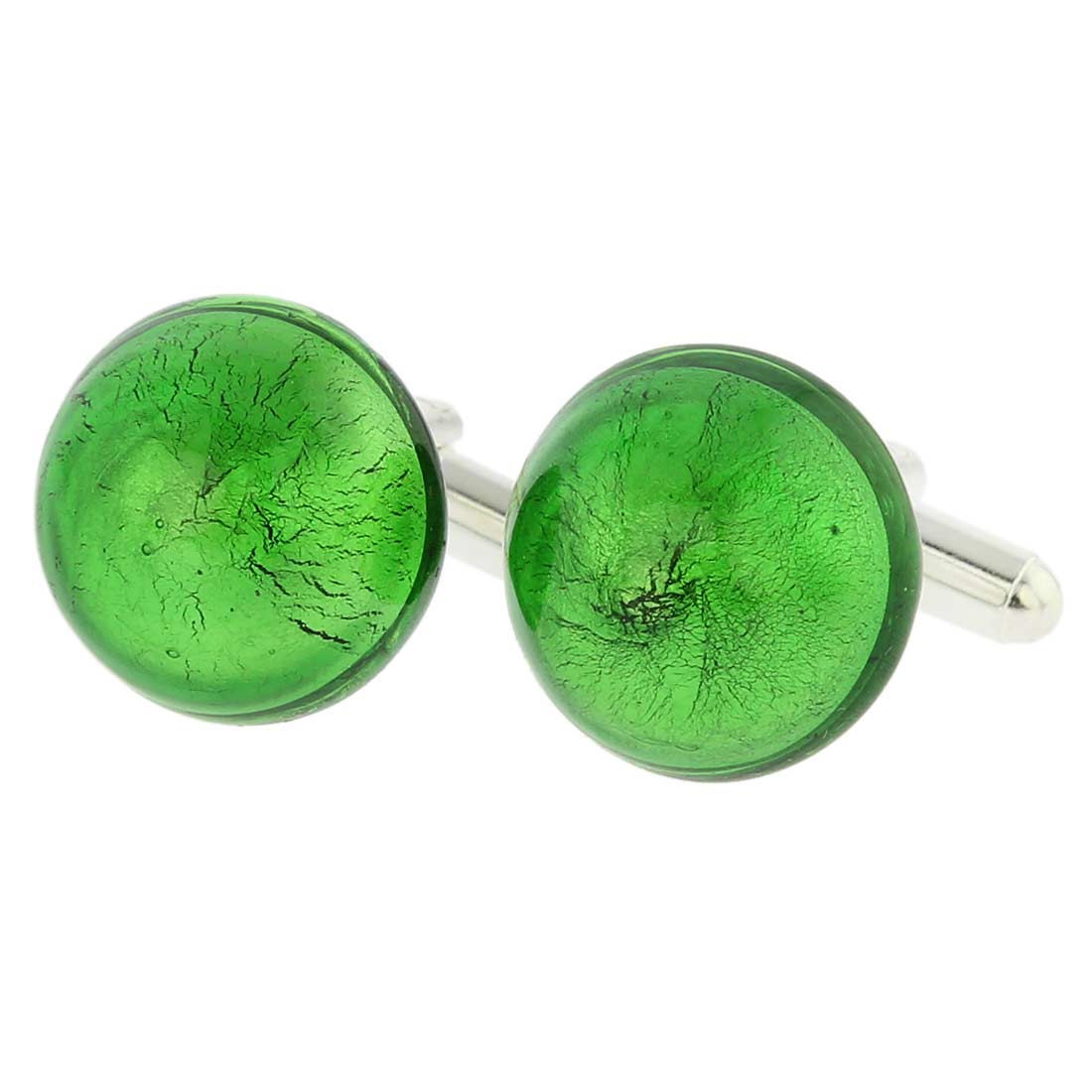 Venetian Dream Cufflinks - Emerald Green