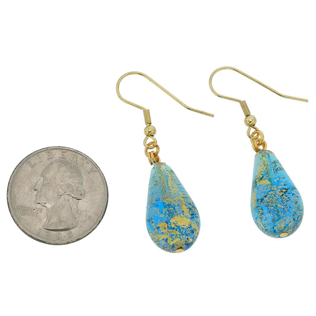 Ca D\'Oro Teardrop Earrings - Aqua