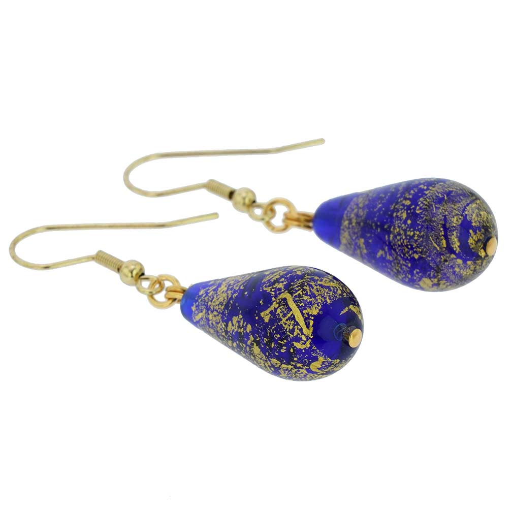 Ca D\'Oro Drop Earrings - Cobalt Blue