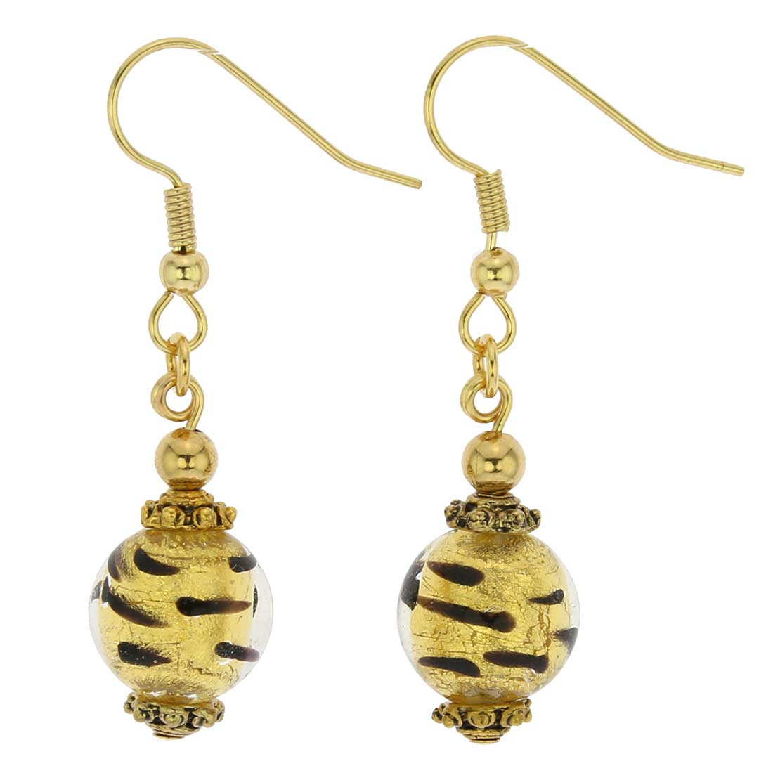 Antico Tesoro Balls Earrings - Spotted Gold