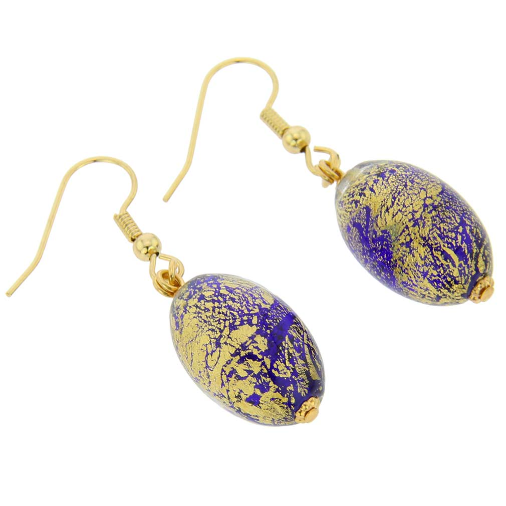 Ca D\'Oro Olives Earrings - Cobalt Blue