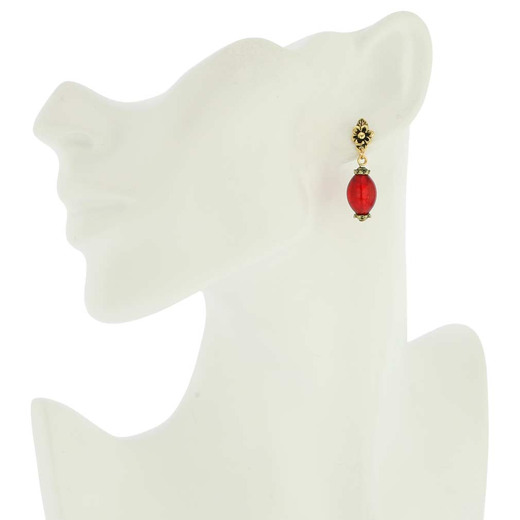 Antico Tesoro Olives Earrings - Red