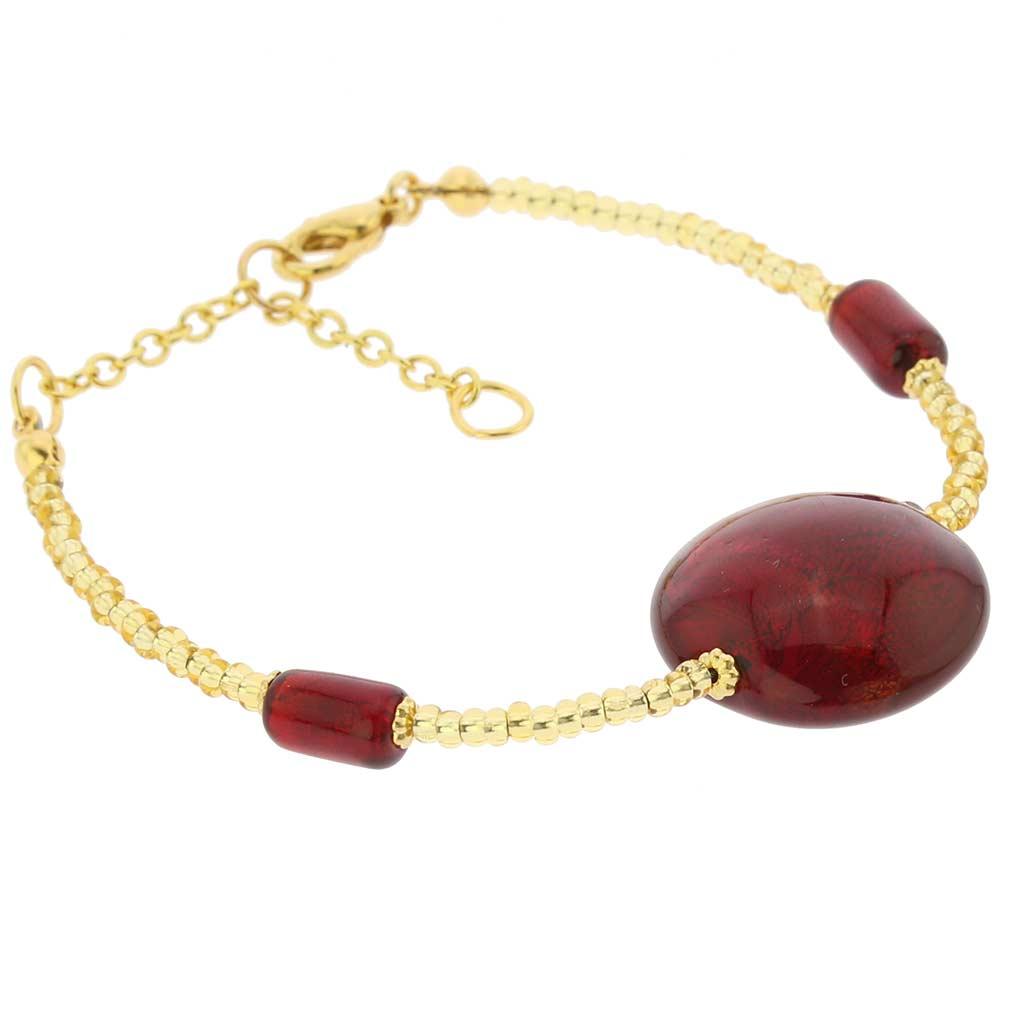 Royal Red Circle Bracelet