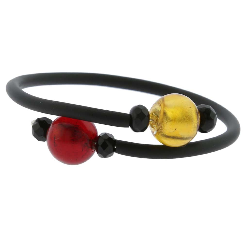 Venetian Glamour Children`s Bracelet - Gold and Red