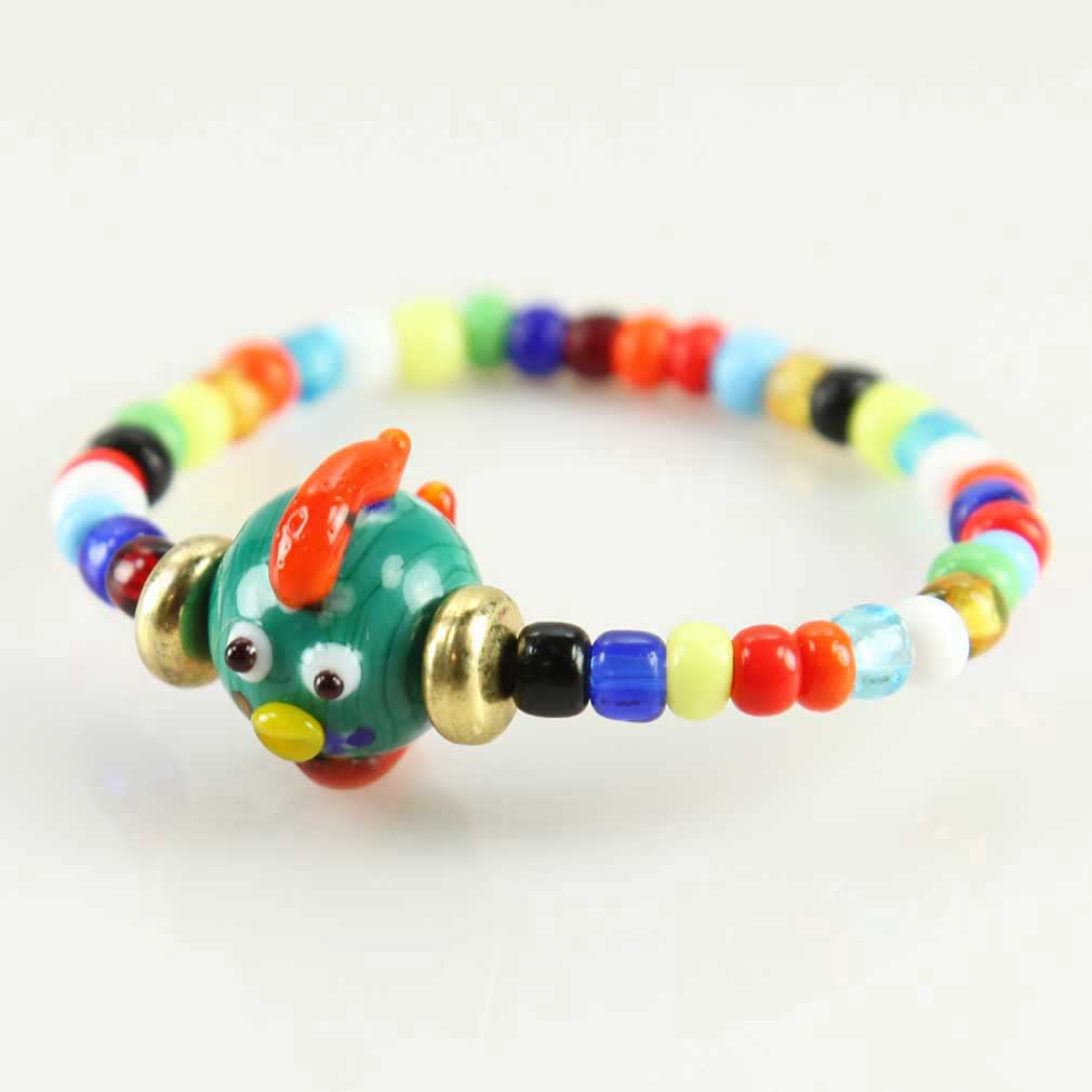 Murano Glass Tiny Fish Children\'s Bracelet