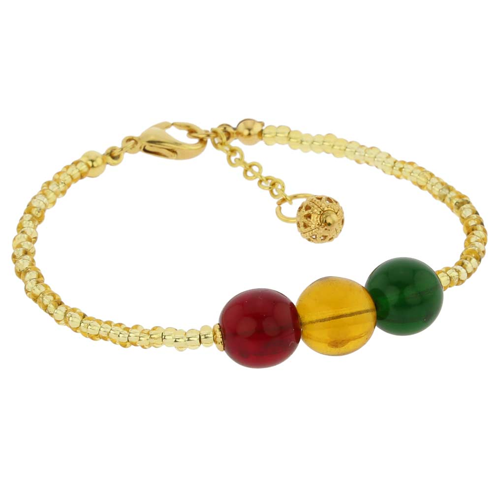 Golden Summer Children\'s Murano Glass Bracelet
