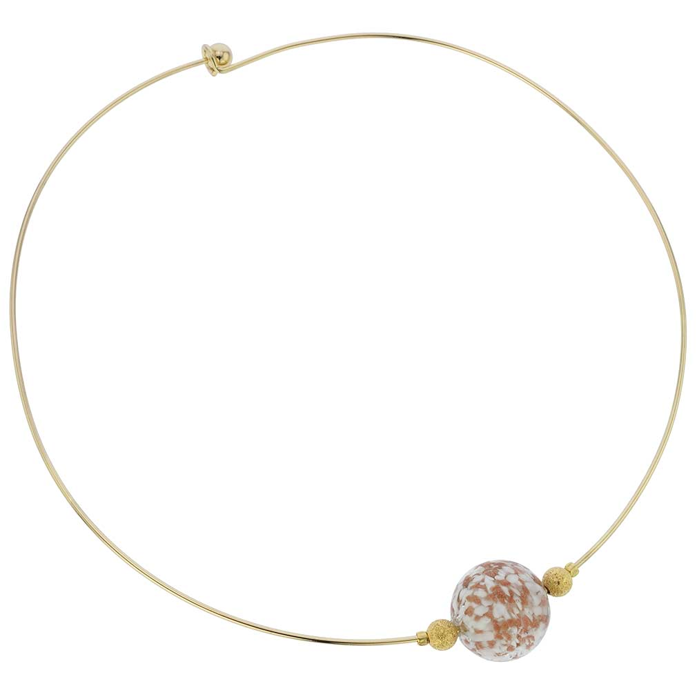 White Sparkle Choker Necklace