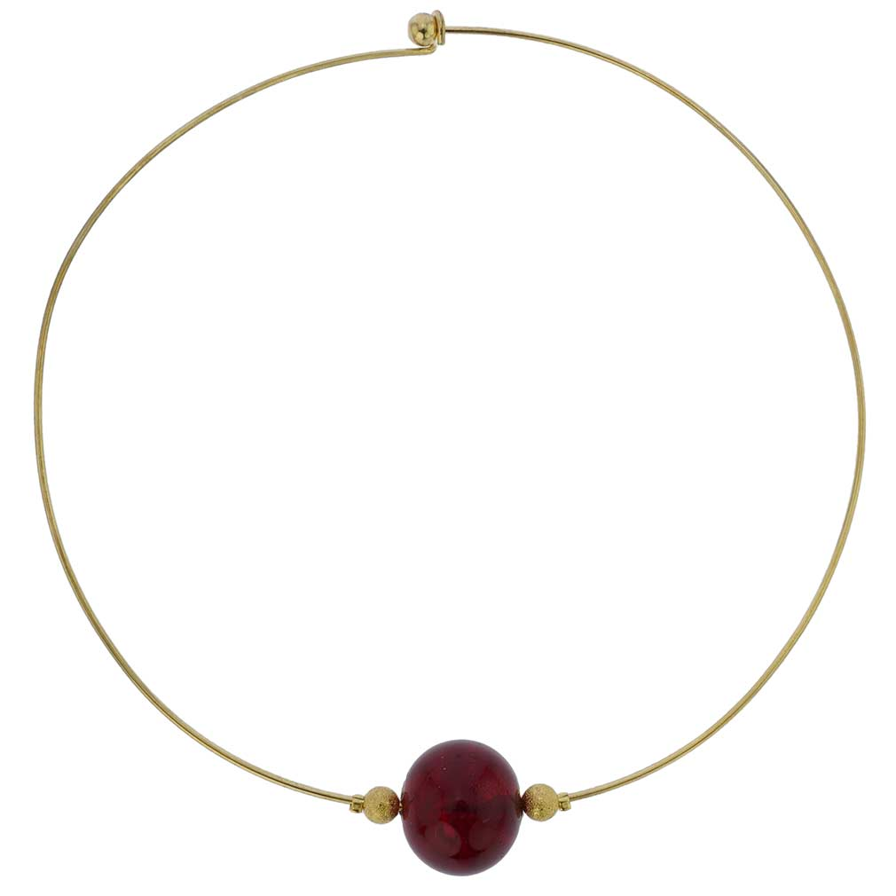 Ruby Red Choker Necklace