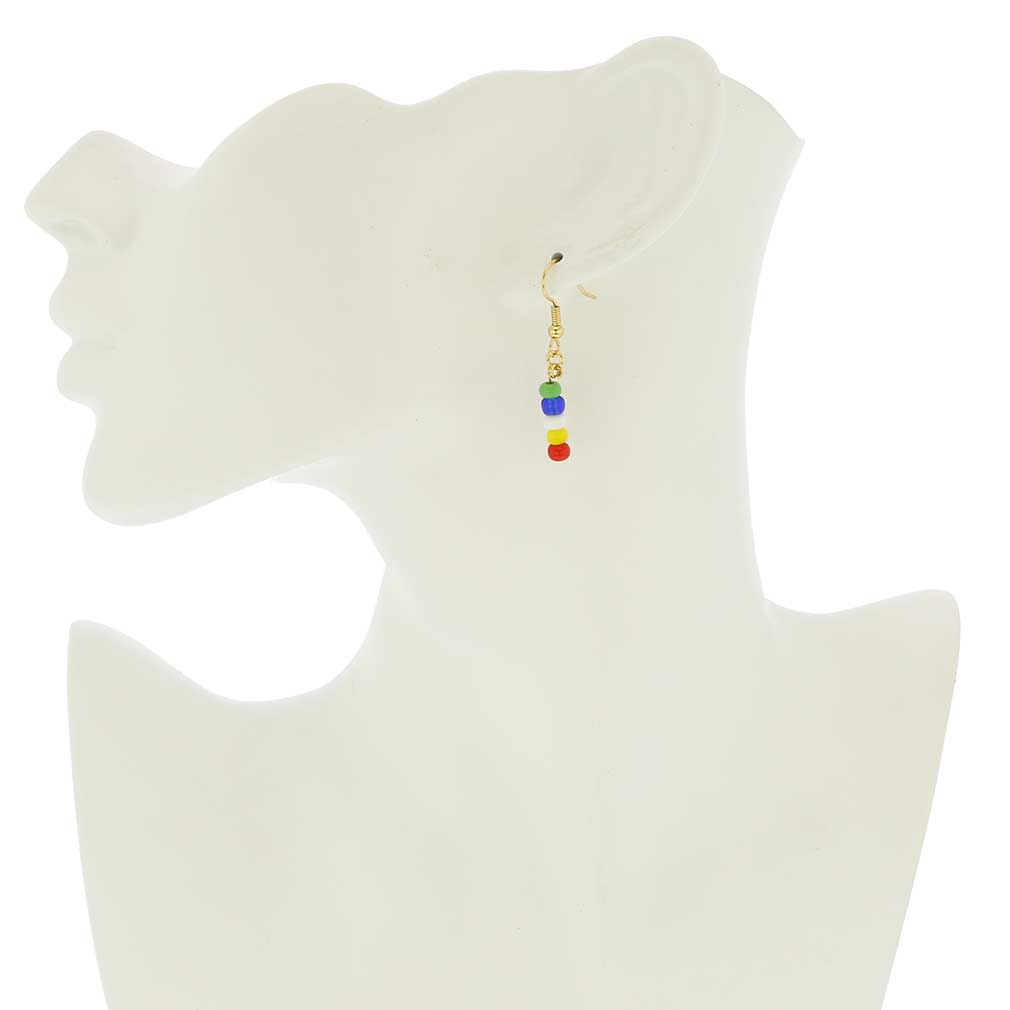 Venetian Fun Murano Glass Girls Earrings