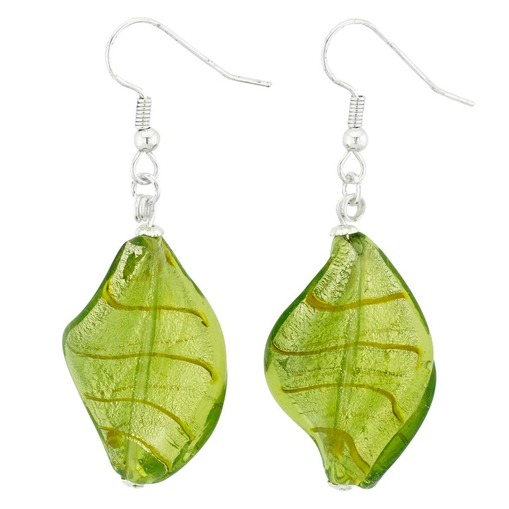 Isola Bella Murano Earrings - Green